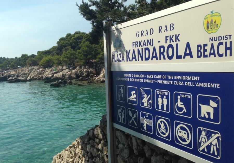 Rab Kandorala plaža beach